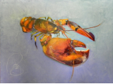 "BOB RANSLEY "" LOBSTER ON BLUE """