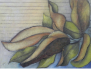 "HEIDI MAYFIELD "" MAGNOLIA LEAVES "" ORIGINAL MIXED MEDIA PAINTING"