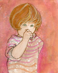 "P. BUCKLEY MOSS GICLEE ON PAPER "" MY LITTLE SWEETIE """