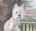 "P. BUCKLEY MOSS PRINT "" MY WEST HIGHLAND TERRIER """