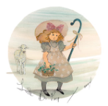"P. BUCKLEY MOSS PRINT "" LITTLE BO PEEP """