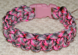 PARACORD SURVIVAL ANKLE BRACELET OR XL BRACELET - PRETTY IN PINK