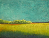"HEIDI MAYFIELD "" LANDSCAPE IV "" ORIGINAL ENCAUSTIC WAX"