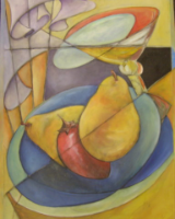 "HEIDI MAYFIELD "" MARTINI PEARS "" ORIGINAL ACRYLIC ON CANVAS"