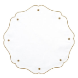 JULISKA BERRY SCALLOPED PLACEMAT - CAPPUCINO BROWN