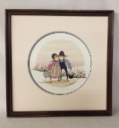 "P. BUCKLEY MOSS FRAMED GICLÉE ""PICKET FENCE"""