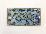 "RAY POTTERY "" RECTANGULAR PLATTER "" PEACOCK"