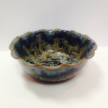 "RAY POTTERY "" FLUTED BOWL """