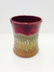 "RAY POTTERY "" UTENSIL HOLDER """