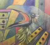 "HEIDI MAYFIELD "" RAVEN II "" ORIGINAL MIXED MEDIA"