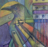 "HEIDI MAYFIELD "" RAVEN III "" ORIGINAL MIXED MEDIA"