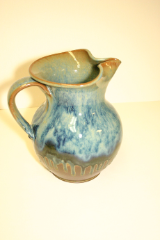 "RAY POTTERY ""BLUE LARGE PITCHER"