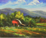 "JEFF PITTMAN "" RED BARN ON CAVE CREEK "" LIMITED EDITION PRINT"