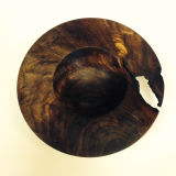 "BOB SCHRADER "" WALNUT SHALLOW BOWL """