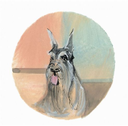 "P. BUCKLEY MOSS PRINT "" DOGS - SCHNAUZER """