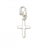 PEARL GIRLS STERLING SILVER CROSS CHARM