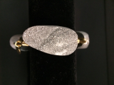 BOURBON AND BOWETIES EXTRA SMALL SILVER DRUZY