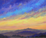 "JEFF PITTMAN "" SKY OVER COLD MOUNTAIN "" LIMITED EDITION PRINT"
