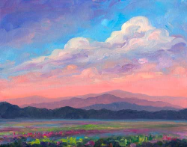 "JEFF PITTMAN "" SUMMER CLOUDS "" ORIGINAL OIL ON CANVAS"