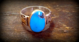 "KYLE LEISTER "" TURQUOISE OVAL RING """