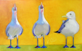 "BOB RANSLEY "" THREE SEAGULLS ON GOLD """