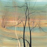 "P. BUCKLEY MOSS GICLEE "" TREES AT TWILIGHT "" MEDIUM"