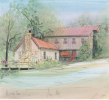 "P. BUCKLEY MOSS PRINT "" VALLEY MILL """