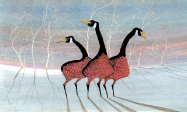 "P. BUCKLEY MOSS GICLEE ON PAPER "" VIGILANT TRIO """