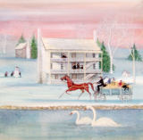 "P. BUCKLEY MOSS GICLEE "" WINTER AT THE INN """