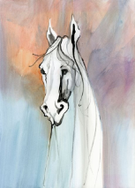"P. BUCKLEY MOSS GICLEE ON CANVAS "" WISE SPIRIT """
