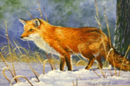 "WES SEIGRIST "" A WINTER RED FOX """