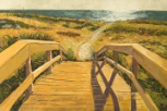 "LARRY SMITH "" BEACH WALK WITH PATH """