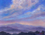 "JEFF PITTMAN "" BLUE MISTY "" ORIGINAL OIL ON CANVAS"