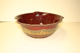 RAY POTTERY RED LARGE TULIP BOWL