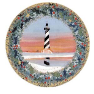 "P. BUCKLEY MOSS ORNAMENT "" CAPE HATTERAS LIGHTHOUSE """