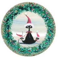"P. BUCKLEY MOSS ORNAMENT "" CAT IN THE HAT III """