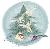 "P. BUCKLEY MOSS PRINT "" CHRISTMAS ANGEL """