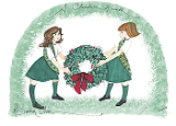"P. BUCKLEY MOSS PRINT "" A CHRISTMAS WREATH """