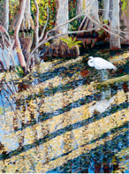 "LARRY SMITH "" EGRET IN SUNLIGHT """