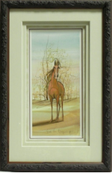 "P. BUCKLEY MOSS FRAMED PRINT "" FEEL THE BREEZE """