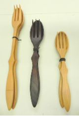 TREENWARE FORK AND SPOON SET