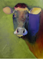 "BOB RANSLEY "" COW ON GREEN """