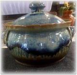 "RAY POTTERY "" LARGE BEAN POT """