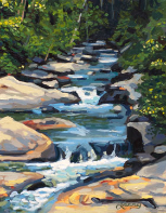 "LARRY SMITH "" STREAM NEAR THE SINK HOLE """