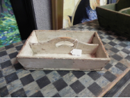 ANTIQUE WHITE WOODEN CONTAINER