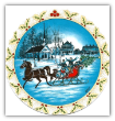 "P. BUCKLEY MOSS "" THE SLEIGHRIDE "" ORNAMENT"