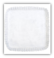 "VIETRI "" SQUARE ANTIPASTI TRAY "" WHITE STRIPE"