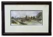 "LORRAINE BREWER FRAMED PRINT "" CHURCH CIRCLE 1950'S "" (SMALL)"