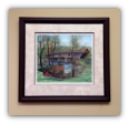 "P. BUCKLEY MOSS FRAMED GICLÉE ""CONCORD COVERED BRIDGE"" SMALL"