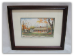 "LORRAINE BREWER FRAMED PRINT "" THE EXCHANGE PLACE "" (SMALL)"